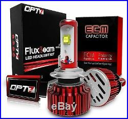 OPT7 Dual H7 LED Headlight Conversion Kit Motorcycle 60w CREE 5K White Bulb