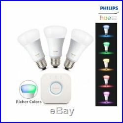 PHILIPS Hue 3.0 White and color ambiance Starter Kit E26 Smart LED Lighting