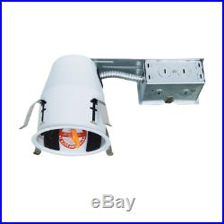 Pack of 12 4 Inch LED Remodel Recessed Can Lighting, Airtight and IC Housing