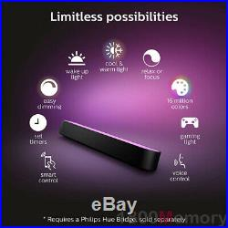 Philips Hue White and Color Ambiance Smart Play Light Bar Single Pack Black IP20