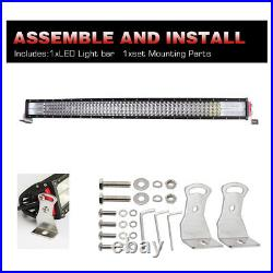 Quad row 42 inch 2400W CREE CURVED LED LIGHT BAR Combo OFF ROADS SUV FORD 40