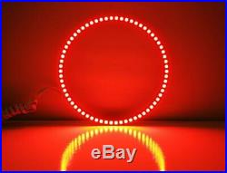RGB Multi-Color LED Angel Eyes Halo Rings For 2005-2009 Ford Mustang with Remote