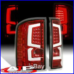 Red Housing Clear Lens White LED Tube Style Tail Lights For 2007-2013 Silverado
