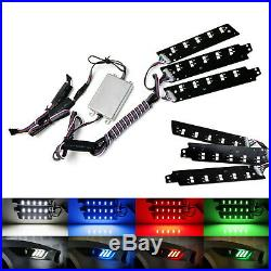 Remote Control RGBW Multicolor LED DRL Board Lighting Kit For 15-17 Ford Mustang