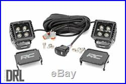 Rough Country 2 Square CREE LED Lights White DRL Pair