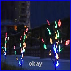Solar Branch Tree Leaf Christmas Lights Outdoor Garden Lawn Patio 60 LED Lamp