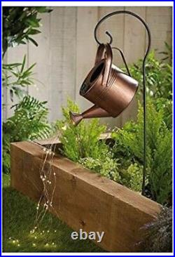 Solar Power Watering Can Warm White LED String Lights Decorative Garden Ornament