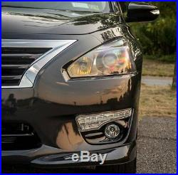 Switchback LED Daytime Running Lights with Clear Fog Lamps Kit For Nissan Altima