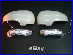 Toyota PRIUS 2010-15 LED mirror cover turn signal light lamp WHITE-color painted