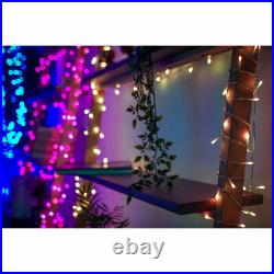 Twinkly 190 LED RGB Multi & White 16x2 Ft Icicle Lights, WiFi Controlled