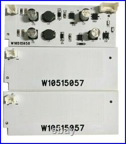 W10515058 (1) LED Driver W10515057(2) LED Lights Whirlpool Kenmore Maytag