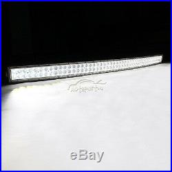 White 50Inch Curved 672W Led Work Light Bar Combo Offroad 4WD ATV UTE 52 700W