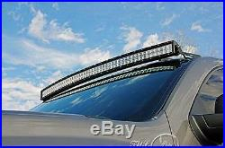White 50 672W+4 18W+ Curved LED Light Bar+Mount Bracket Fit For Ford F250/F350