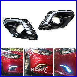 White/Amber/Aqua LED Daytime Running Light/Turn Signal For 2014-16 Mazda6