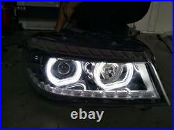 White DTM Style LED Angel Eyes Halo Rings DRL Kit For BMW F30 F35 New 3 series
