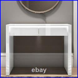 White Gloss Console Table with Drawers and LED Lights -Tiffany TIFF035