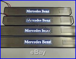 White LED Light Door Sills Scuff Plate fit for Mercedes-Benz E-Class W210 W211