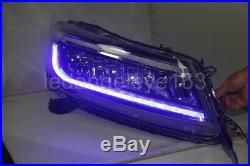 White and blue LED DRL head lamps For HONDA Accord headlights 2008-2012 year TLZ